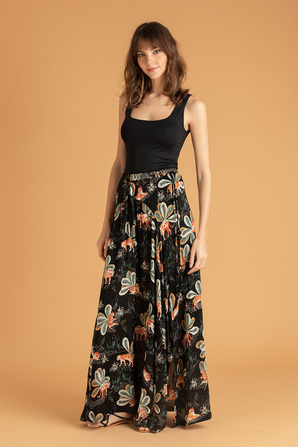Long Skirt Ollie Flounce - Black Tiger