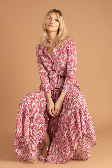 Midi Dress Soledad Off Shoulder - Pink Amarylis