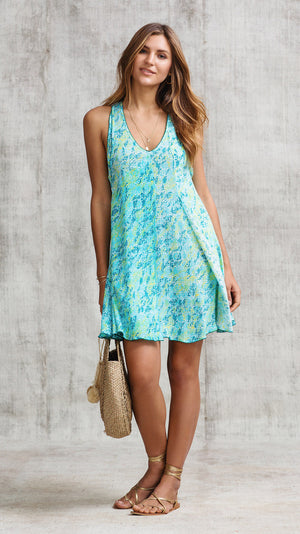 DRESS LALA SLEEVELESS - BLUE SAHARA