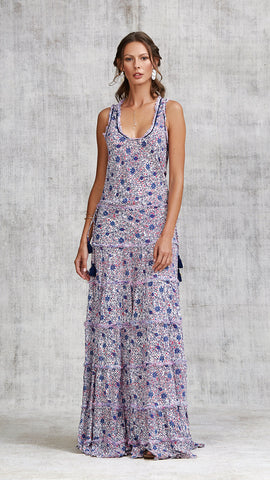 LONG DRESS BETY SLEEVELESS - BLUE ASTER