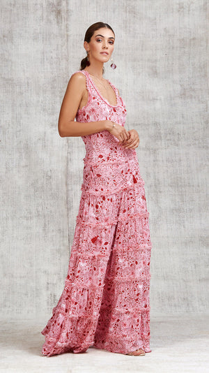 LONG DRESS BETY SLEEVELESS - PINK CAMELIA