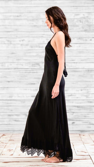 LONG DRESS CIAO - BLACK