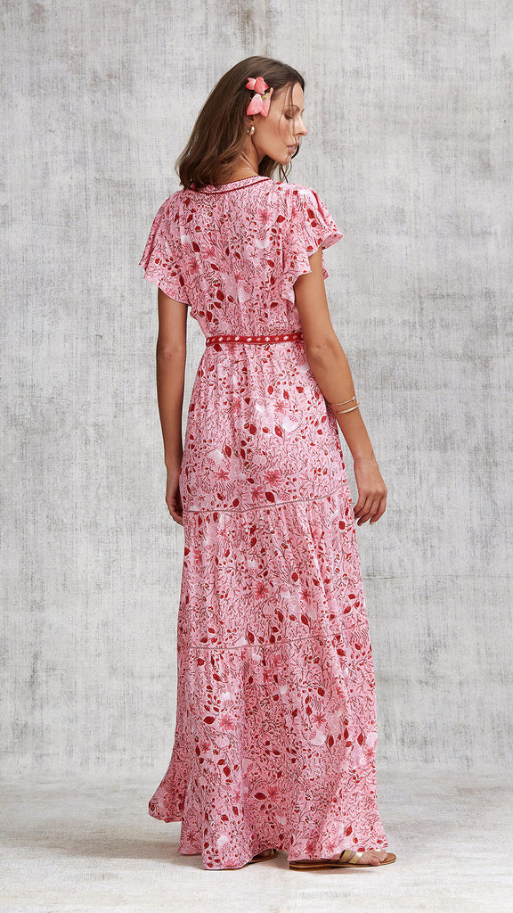 LONG DRESS OLA PANELLED - PINK CAMELIA