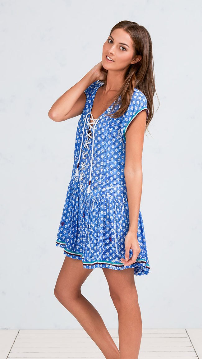 MINI DRESS LUCY - BLUE VENIZIA