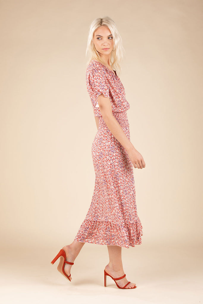 Midi Dress Bonnie Smocked - Pink Bell