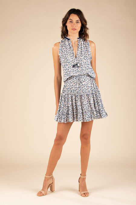 Mini Dress Clara Ruffled - Blue Rose