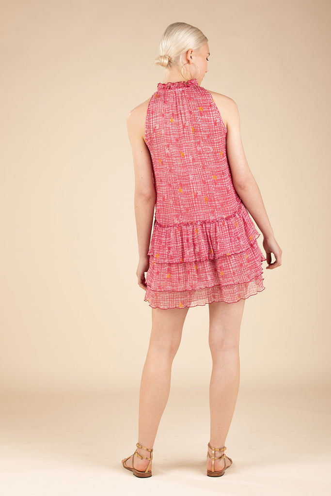 Mini Dress Elise Ruffled - Pink Maze