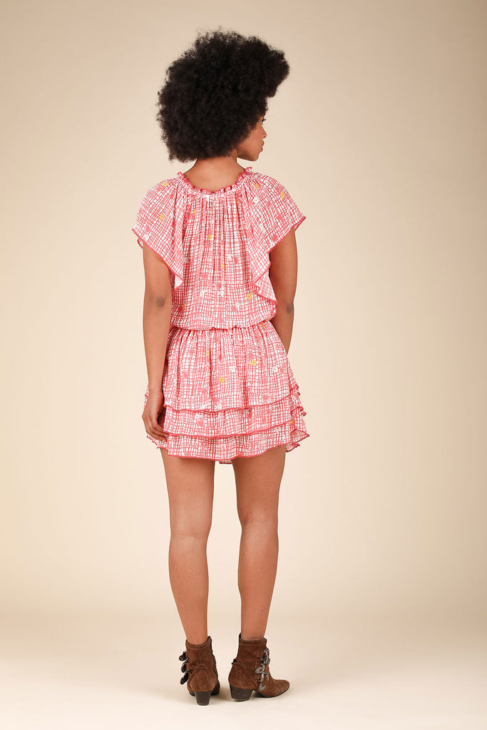 Mini Dress Elsa Layered - Pink Maze