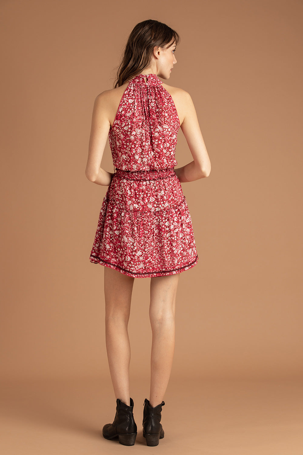 Mini Dress Inka Ruffled - Pink Aspen