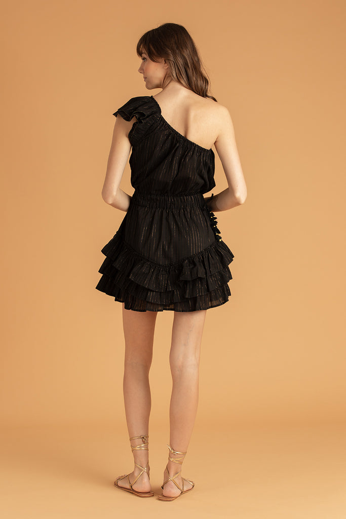 Mini Dress Kaia Ruffled - Black