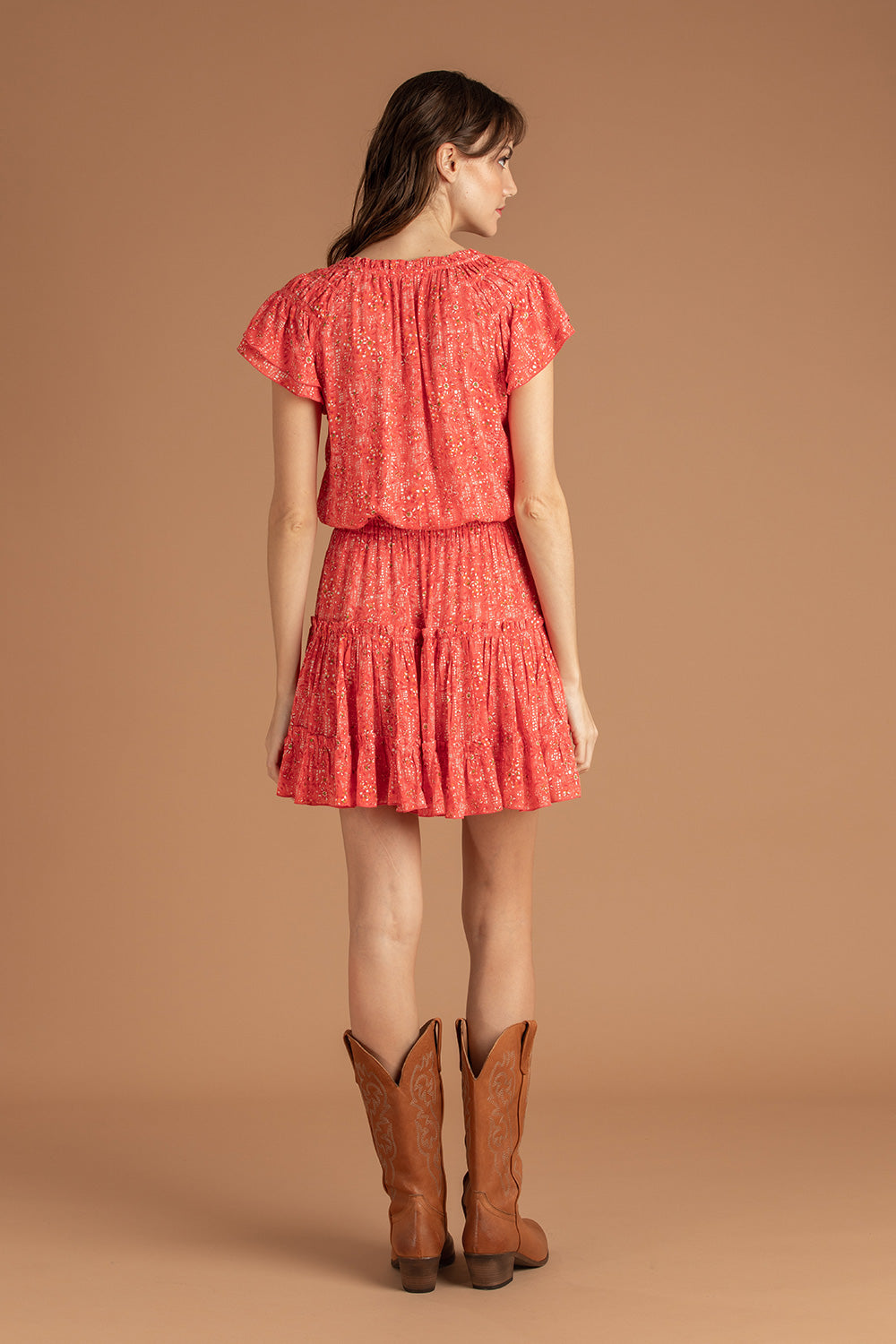 Mini Dress Nava Ruffled - Pink Amarylis