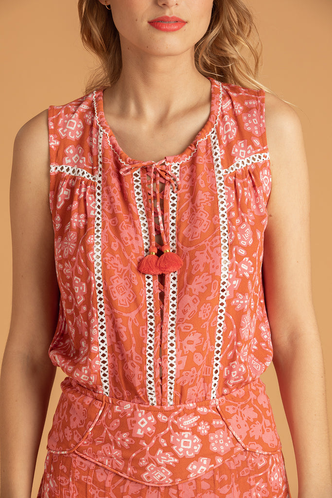 Mini Dress Sylvia Sleeveless - Orange Egypt