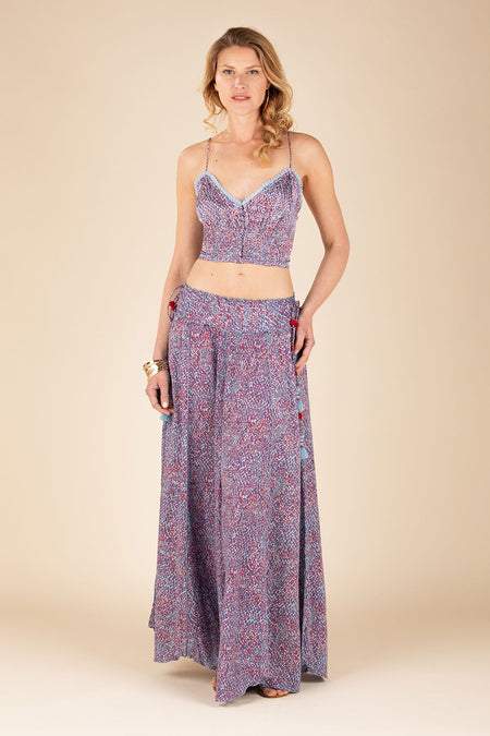 Pant Elise Panelled - Blue Pineapple Batik Rombo