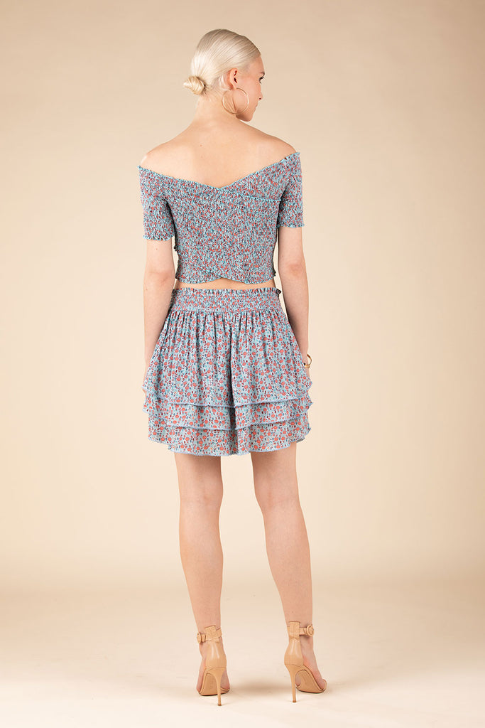 Mini Skirt Elsa Layered - Blue Bell