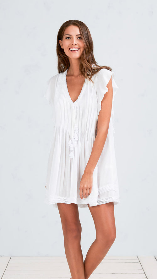 MINI DRESS MILA - WHITE