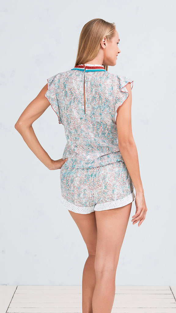 SHORT JUMPSUIT MILA - BLUE CLOUD