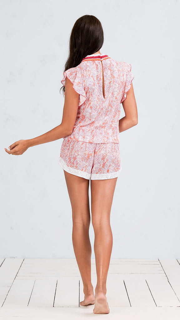 SHORT JUMPSUIT MILA - ORANGE CLOUD