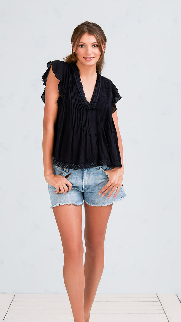 TOP BLOUSE MILA - BLACK