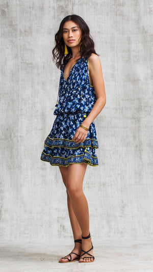 MINI DRESS AMORA LAYERED - BLUE FRESSIA