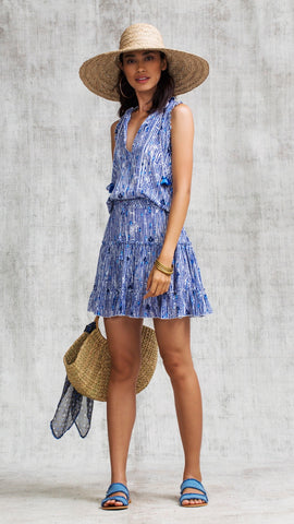 MINI DRESS CLARA RUFFLED - BLUE FANCIFUL