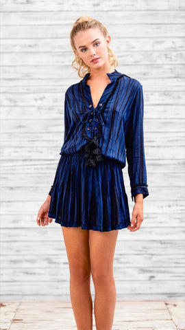 MINI DRESS DONNA - NAVY