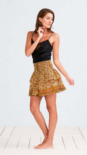 MINI SKIRT HONEY - YELLOW LOTUS