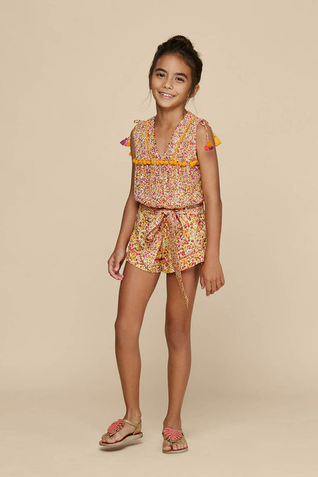 Kids Bandeau Smocked - Yellow Glory
