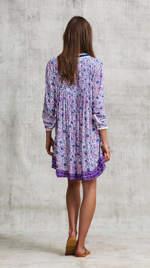 DRESS OLA LONG SLEEVE - BLUE ASTER