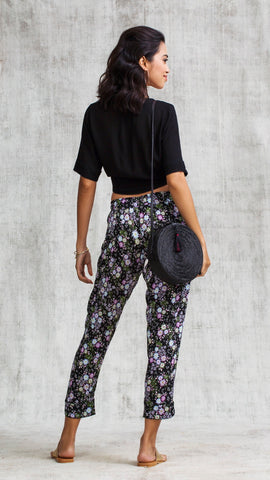 PANT FOE STRAIGHT LEG - BLACK MIMOSA