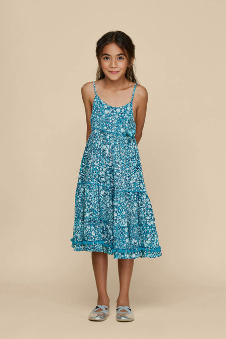 Kids Mini Skirt Mara Smocked - Blue Bloom