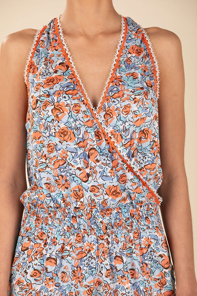 Short Jumpsuit Jena Sleeveless - Blue Rose