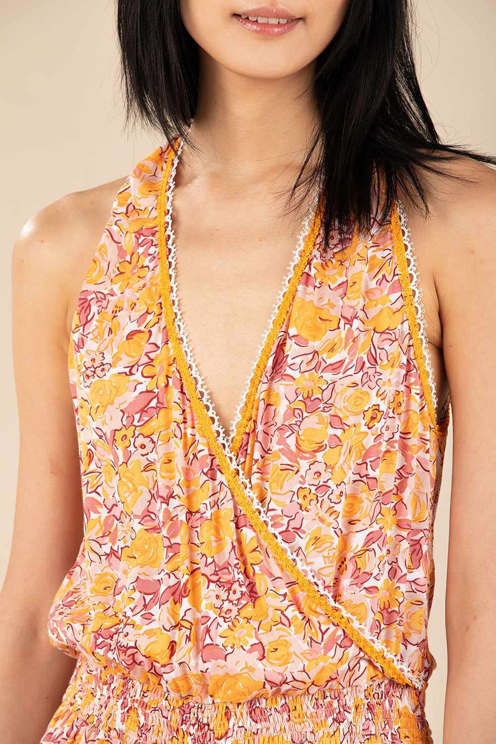 Short Jumpsuit Jena Sleeveless - Yellow Rose