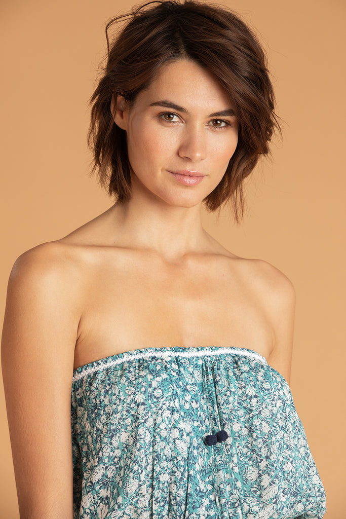 Short Jumpsuit Josie Sleeveless - Aqua Aspen