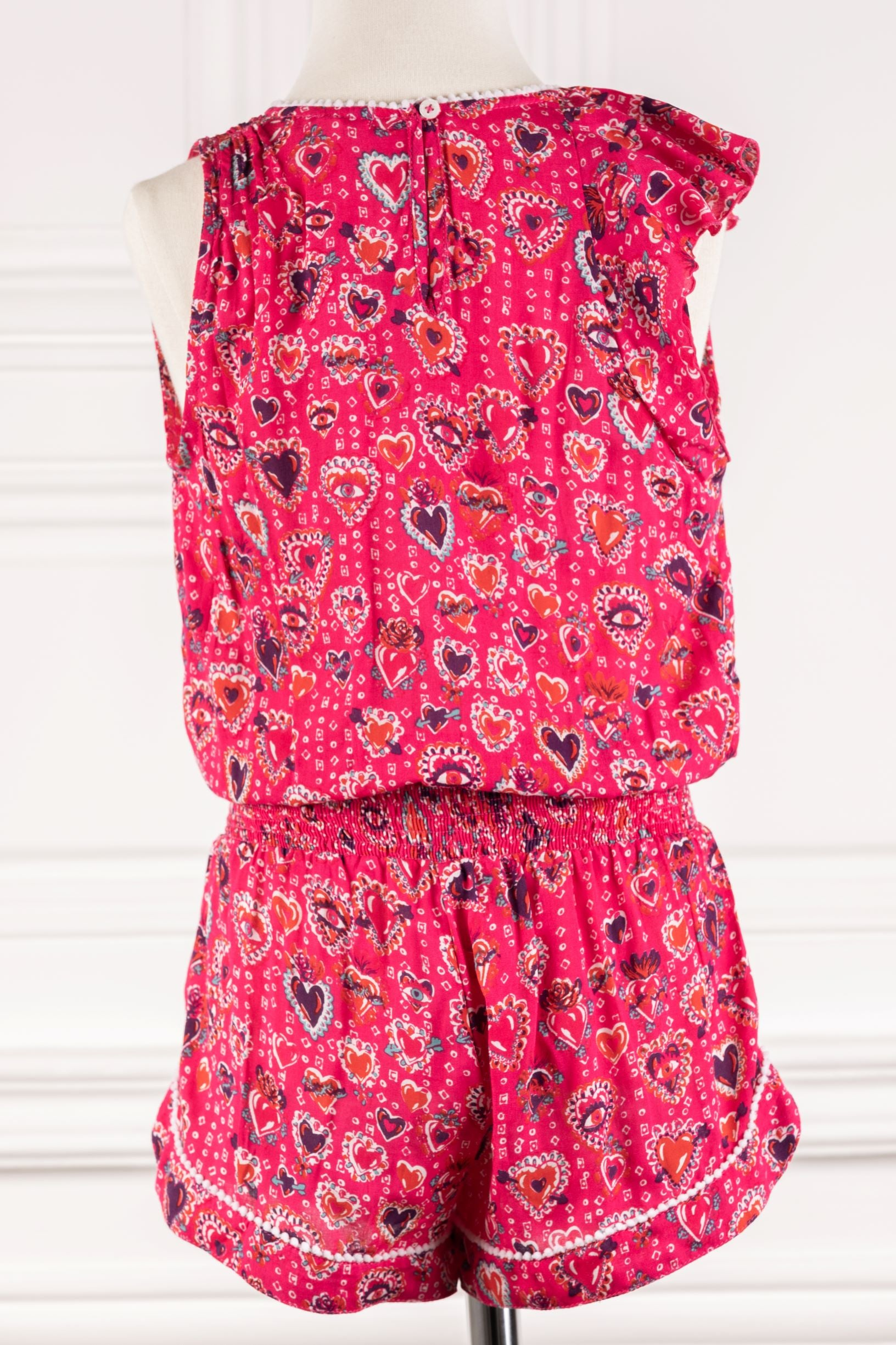 Kids Short Jumpsuit Gwen Ruffled - Pink Milagros