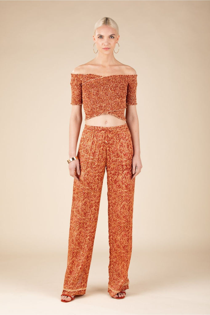 Pant Kimi Straight Leg - Orange Wild
