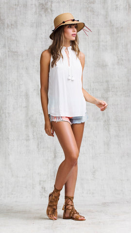 SINGLET FOE RUFFLED - WHITE