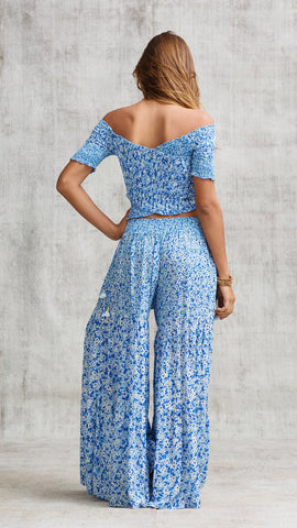 PANT SOLEDAD PANELLED - BLUE ICY LIBERTY
