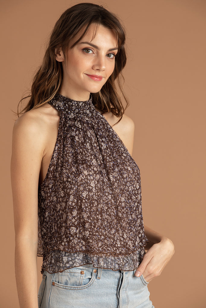 Top Blouse Inka Ruffled - Choco Aspen