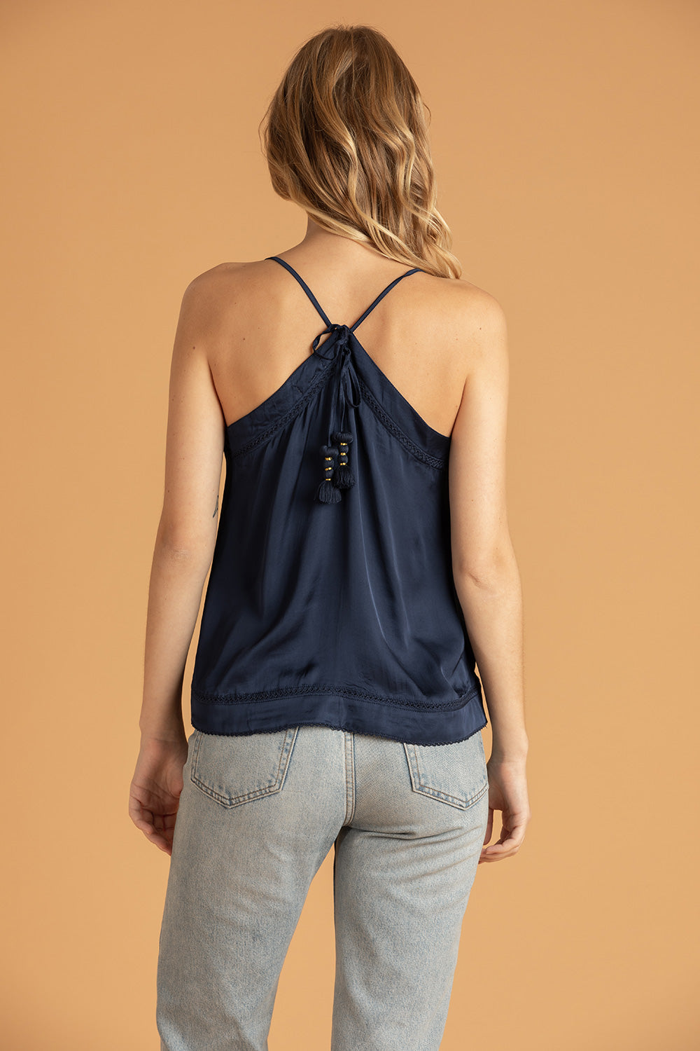 Top Fiona Lace Trimmed - Navy
