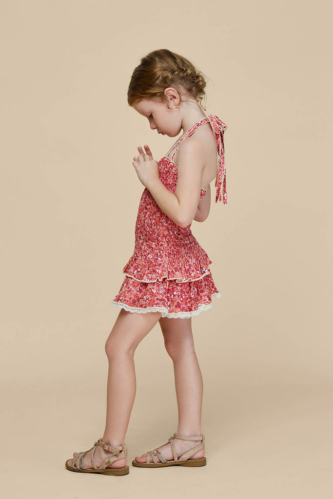 Kids Bandeau Dress Yoana Smocked - Pink Glory
