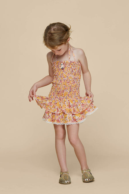 Kids Mini Skirt Irma Panelled - Yellow Glory