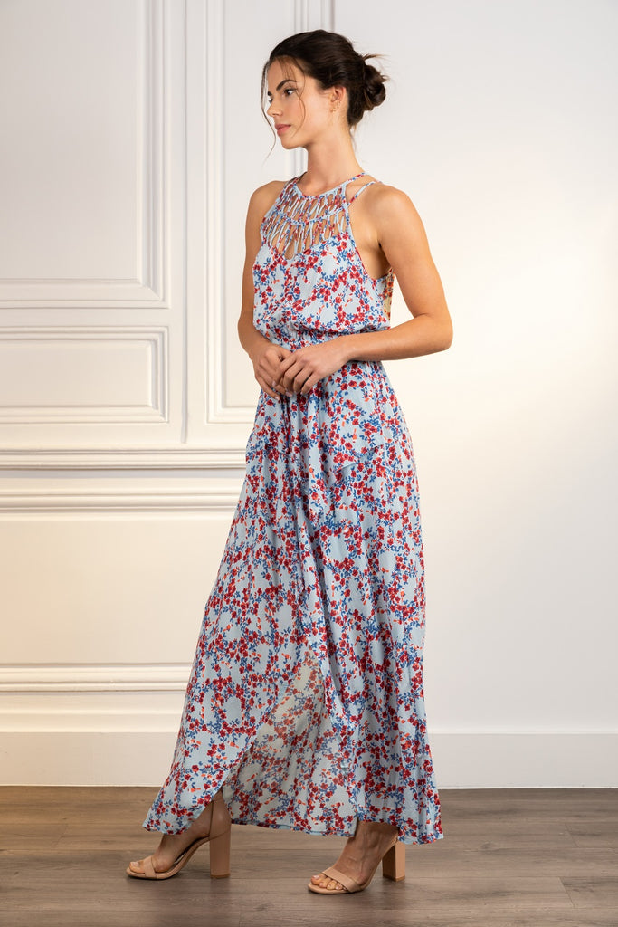 Poupette St Barth Long Dress Cindy