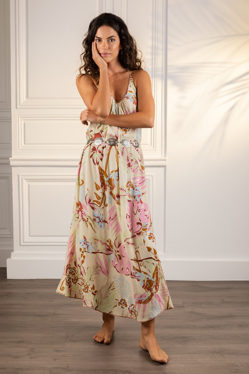 Poupette St Barth Long Dress Felicia