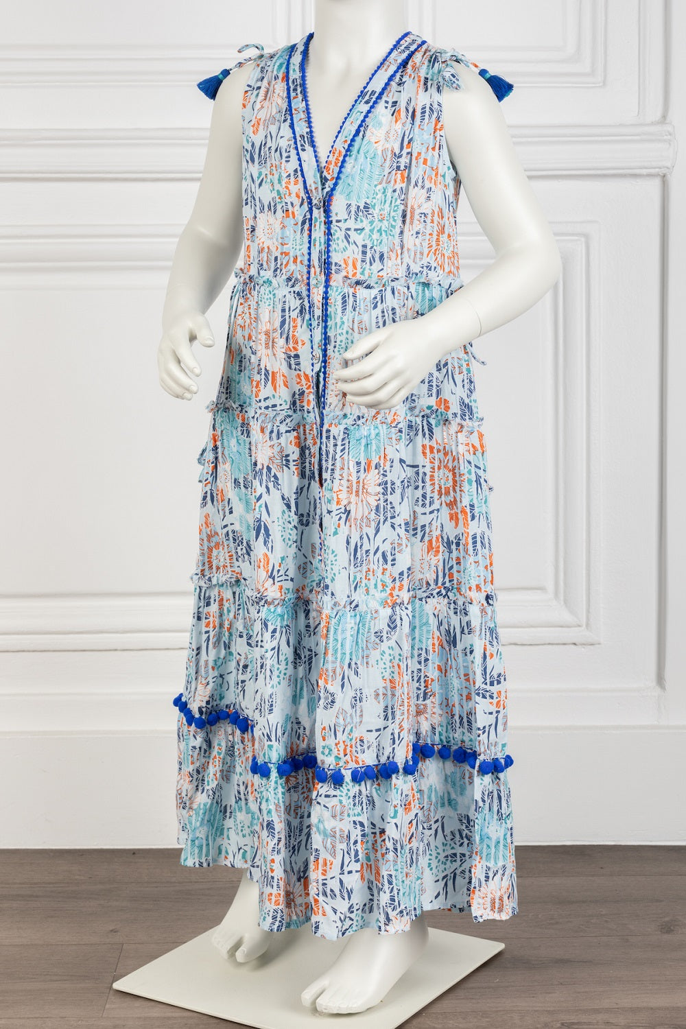 Poupette St Barth Kids Long Dress Ivy