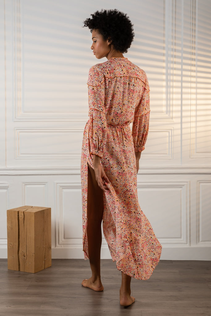 Long Dress Tunic Ilona Long Sleeve - Orange Malva