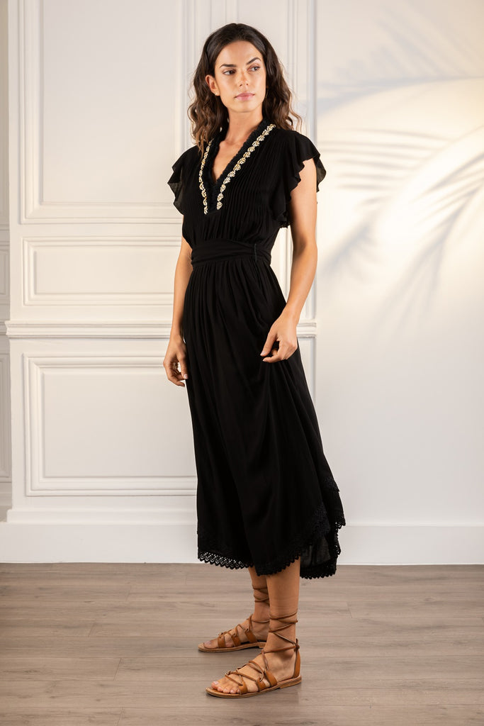 Poupette St Barth Midi Dress Sasha