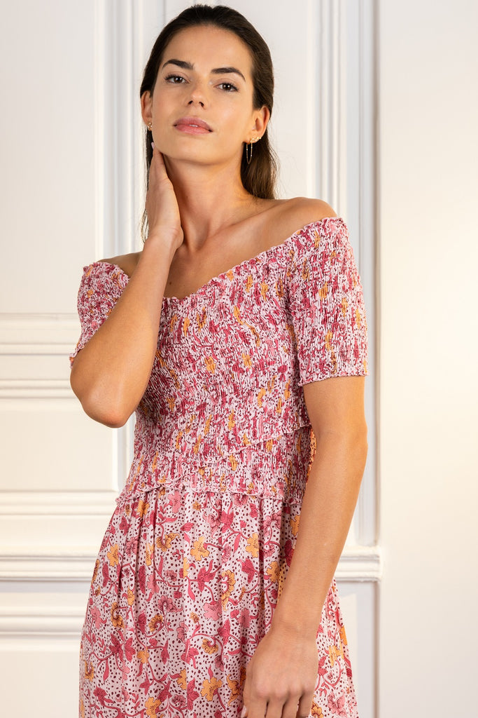 Poupette St Barth Midi Dress Soledad