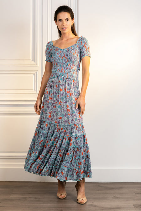 Long Dress Emily - Pink Marigold
