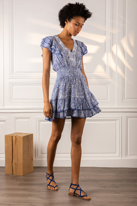 Mini Dress Selena - Blue Hortensia