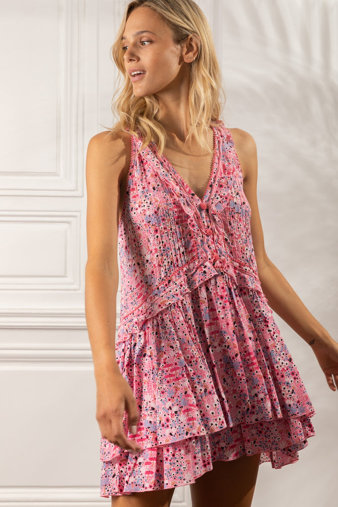 Mini Dress Mae Ruffled - Pink Malva